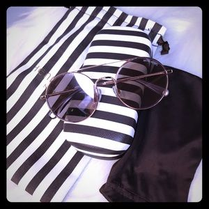 Henri Bendel Sunglasses with case and dust bag